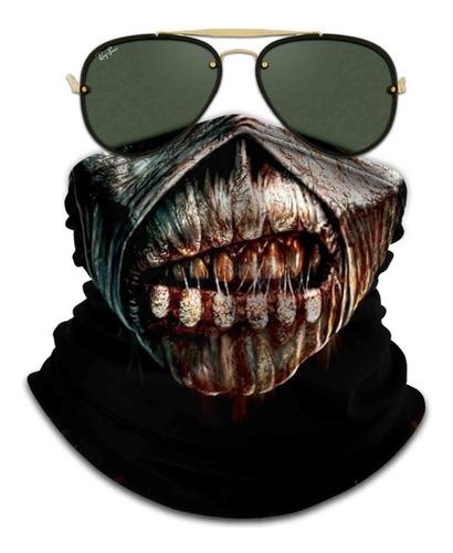Bandana Mascara Iron Maiden Book Of Souls Ciclismo Proteção2