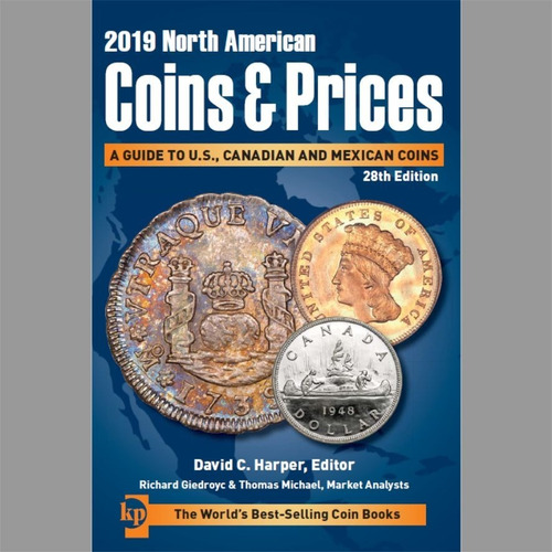 Imagen 1 de 1 de Catálogo De Monedas North American Coins & Prices 2019
