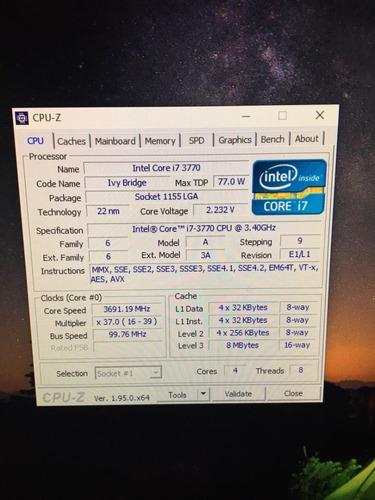 Kit Processador I7 3770 + Placa Mãe H61 + 8gb Ddr3t