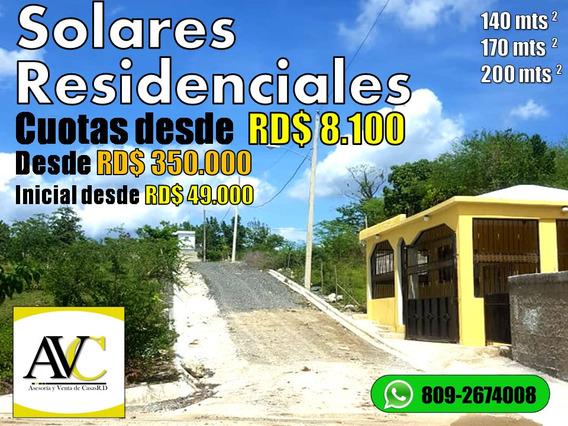 Solar Residenciales En Santo Domingo Con Su Titulo Inicial
