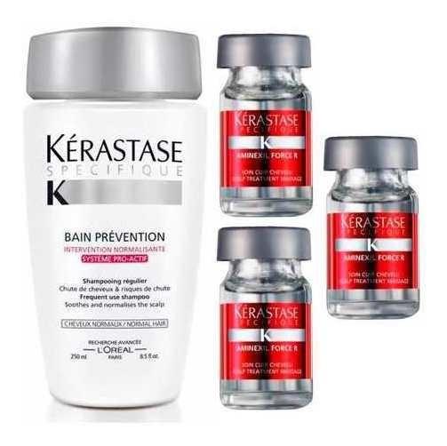 Kerastase Kit Caida Shampoo Prevention+ 3 Ampollas Aminexil