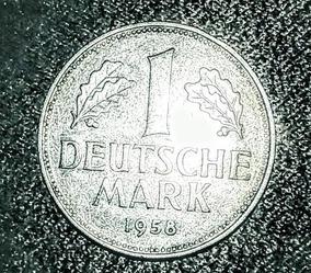 Moeda - 1 Mark 1958 Deutschc - Letra J