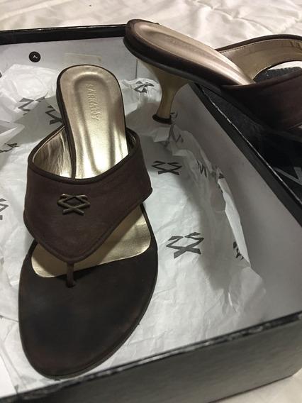 Sandalias Mujer / Cuero Marrón / Sarkany Taco