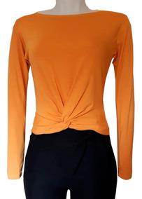 Blusa Feminina T-shirt Cropped Cruzado Transpassado Nózinho