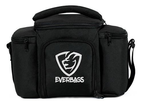 Bolsa Térmica Fitness Top Cinza Marmita Academia Everbags