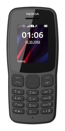 Nokia 106 (2018) Dual SIM 4 MB gris oscuro 4 MB RAM