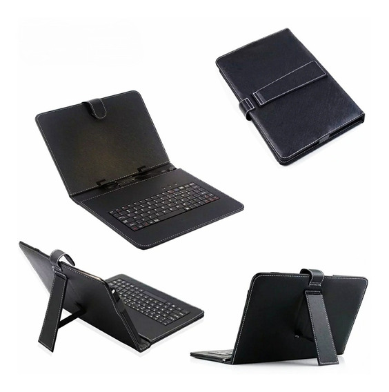 Capa Case Com Teclado Preto Usb Para Tablet 9- 9.6 Polegada