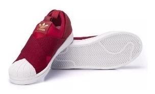 Tênis adidas Superstar Slip On Bordô