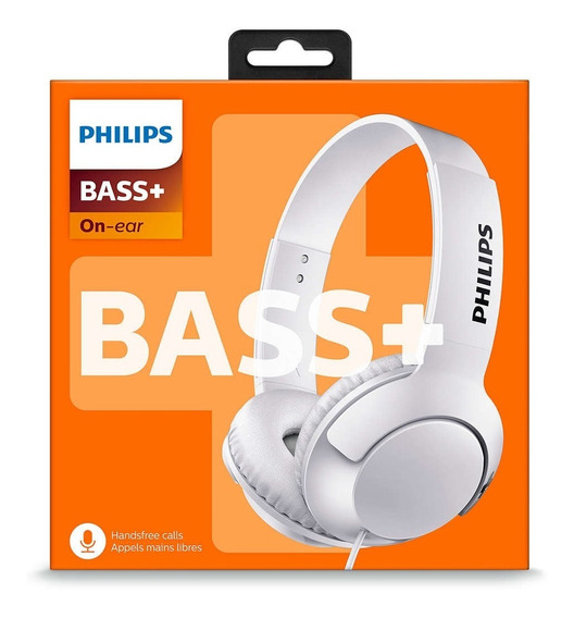 Headphone/fone Philips C/ Microfone Bass + Shl3075wt/00