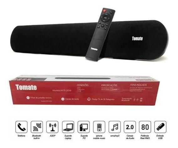 Caixa Som Soundbar P/ Tv C/ Bluetooth Auxiliar Usb 80w (mts-