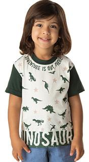 Roupa Bebê Menino Camiseta Manga Curta Meia Malha Algodão