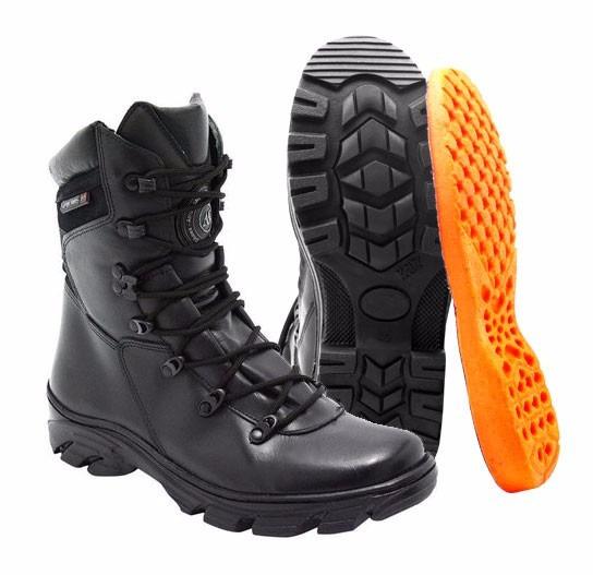 Coturno Bota Atron Shoes 280 Em Couro Militar Moto Swat Bope