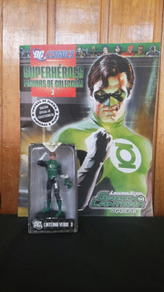 Figura Green Lantern Eaglemoss Plomo + Fasciculo Dc Germanes