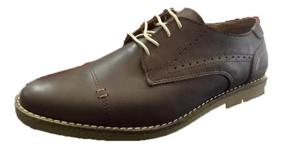 Zapato Punta Fina Acordonado Cuero (500)