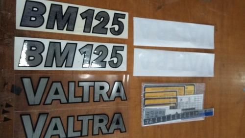 Imagem 1 de 4 de Kit Faixa Adesivo Trator Valtra Valmet Bm 125
