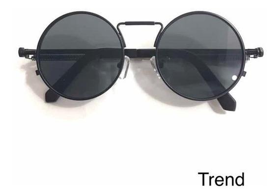 Óculos De Sol Masculino Feminino Lançamento Steampunk Round