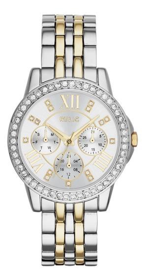 Reloj Dama Relic Layla Zr15753 Color Plateado-dorado