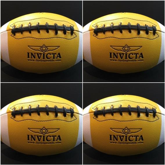 Bola Invicta Futebol Americano Amarela Original.
