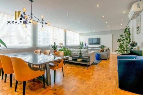 Apartamento Com 3 Dormitórios À Venda, 198 M² Por R$ 2.200.000,00 - Jardim Paulista - São Paulo/sp - Ap13731
