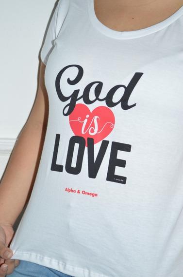 Remera Cristiana - Alpha & Omega - God Is Love
