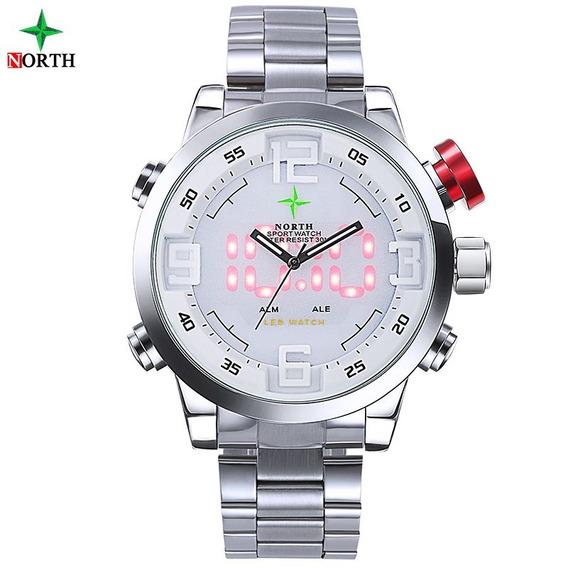 Relógio Masculino Esportivo - Pulseira Aço Inoxidável