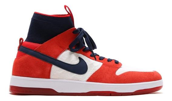 Zapatillas Nike Sb Dunk High Elite Botitas Puño De Tela