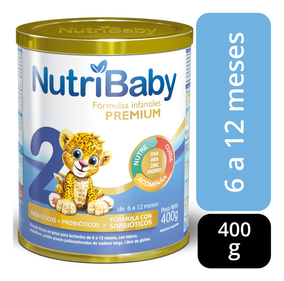 Nutribaby 2 Premium Leche 6 A 12 Meses Lata X 400grs