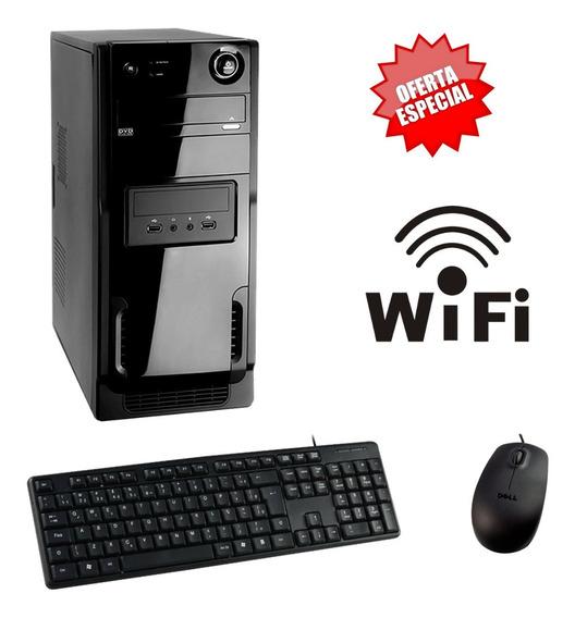 Pc Novo Core 2 Duo 4gb Ram Hd320 Win10 Wifi + Brinde!