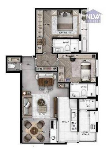 Imagem 1 de 12 de Apartamento À Venda, 73 M² Por R$ 1.258.314,00 - Perdizes - São Paulo/sp - Ap3163