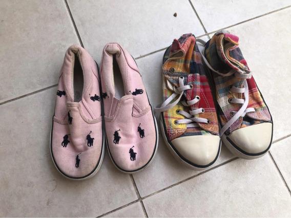 Zapatillas Y Panchas Polo Ralph Lauren 27 Con Detalles