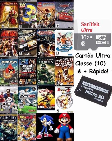 Memoria De Psp 16gb Classe 10 E Mais Rápido Para Jogos