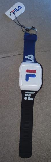 Relógio Digital Fila Unissex Pulseira Silicone Promoção