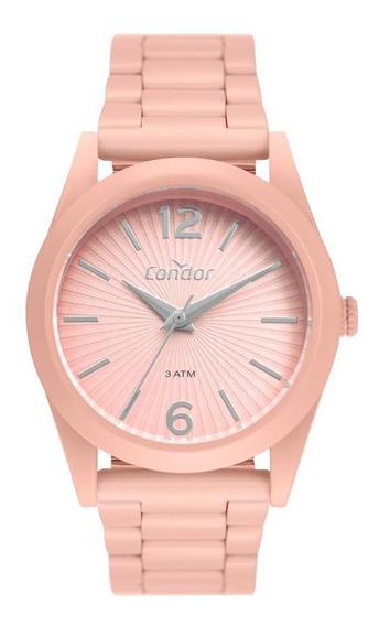 Relógio Feminino Condor Color Fun Co2035muv/8t 36mm Aço Rosa