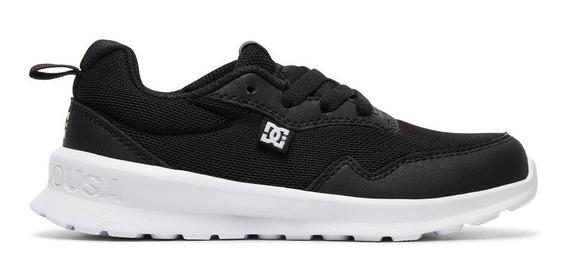 Tenis Dc Shoes Para Niños Hartferd Negro-blanco