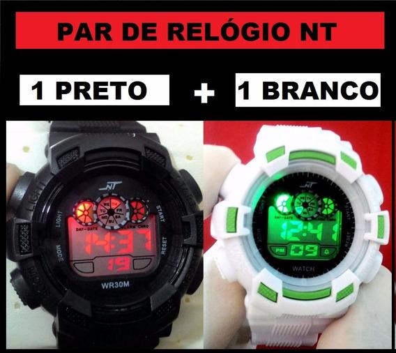 Kit 2 Relógio Digital Militar N T Shock Esportivo Masculino