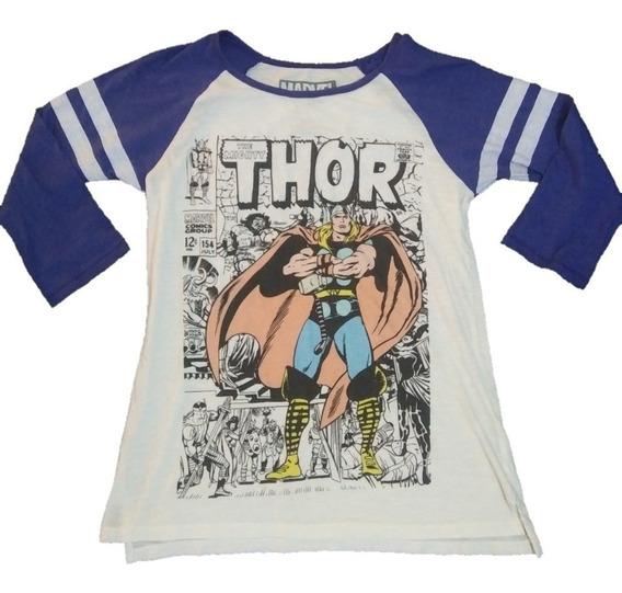 Playera Mujer Thor Marvel Comics Oficial Retro Avengers Niña
