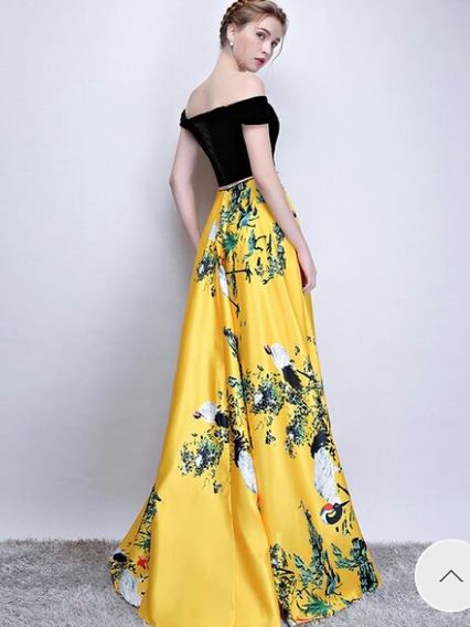 Vestido Largo De Fiesta Amarillo Zona Oeste Padua Nuevo