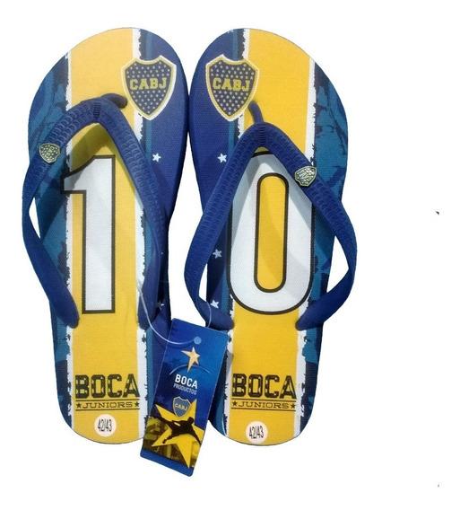 Boca Juniors Original Ojotas Para Hombre Talles Del 40 Al 45