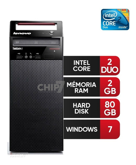Desktop Lenovo Thinkcentre Core 2 Duo, 2gb Ddr3, Hd 80gb