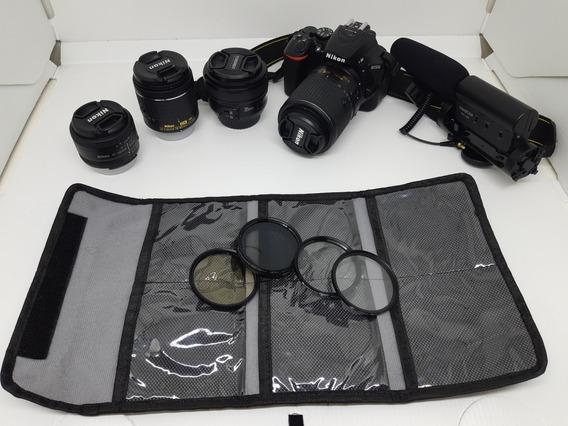 Câmera Nikon D5500 + Kit Mais Que Completo!