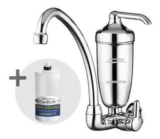 Torneira C/purificador Acqua Bella Cromo Lorenz +refil Extra