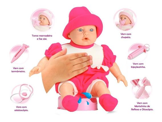 Boneca Bebê Jensen Alergic Xixi - Faz Xixi - Roma Brinquedos