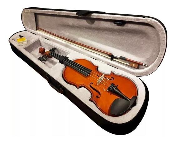Violin 4/4 De Estudio Con Estuche Arco Resina