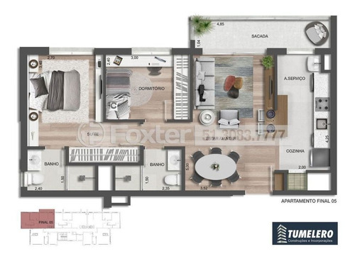 Imagem 1 de 8 de Apartamento, 2 Dormitórios, 66.42 M², Cristo Redentor - 197804