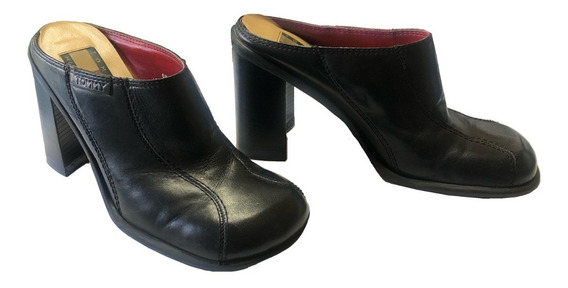 Zapato Mujer Americano Metedera Mula Sueco Slip Piel Usado