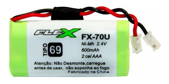 Kit 05xbateria Tel S Fio 2,4v 600mah Aaa Fx-70u Flex Tipo 69