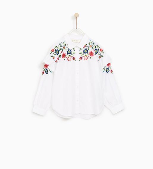 Camisa Bordada Zara, Nueva. Importada De Usa