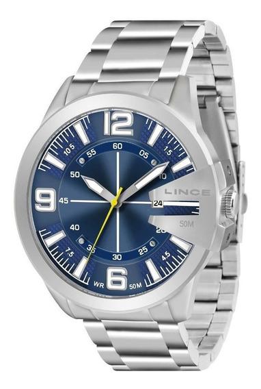 Relógio Lince Masculino Prateado Mrm4333sd2sx