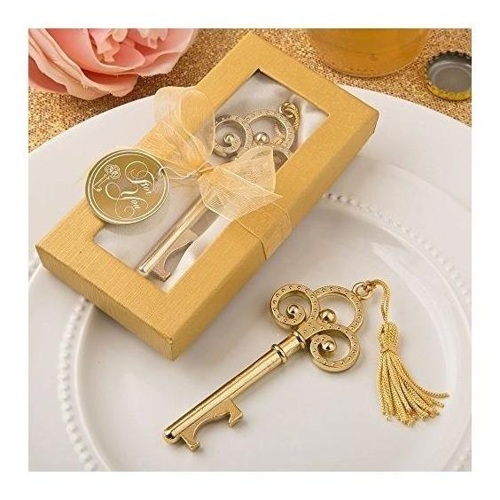 72 Gold Vintage Skeleton Key Abrebotellas Favores De La Boda