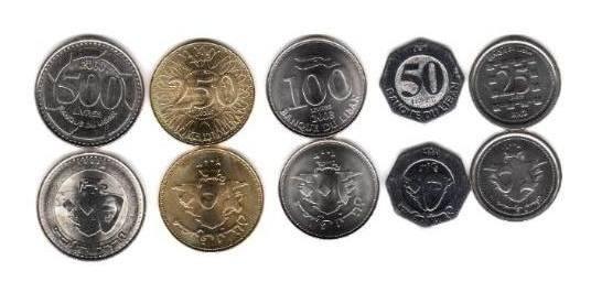 Serie De 5 Monedas De Libano Año 1996 A 2012 Sin Circular